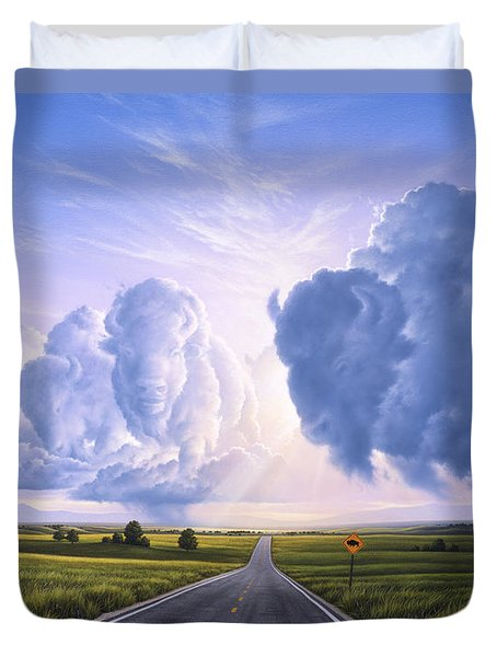 Buffalo Crossing Duvet Cover