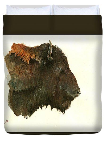Buffalo Portrait Head Duvet Cover