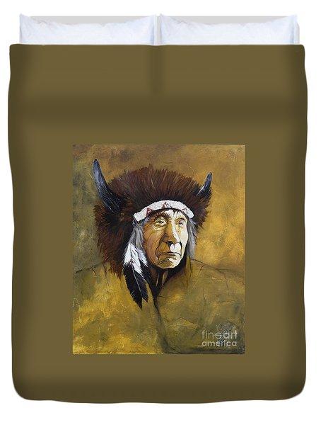 Buffalo Shaman Duvet Cover