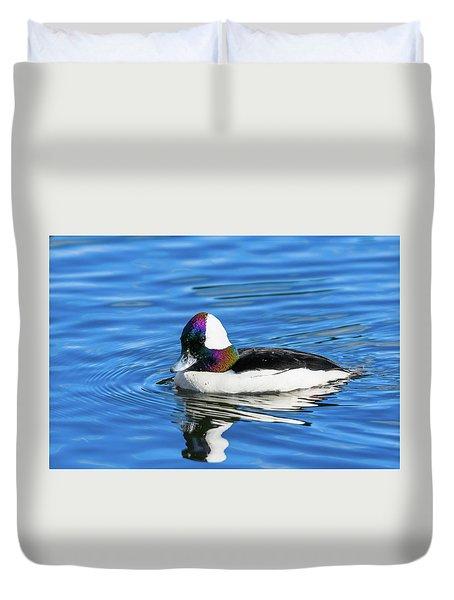 Bufflehead Duck Duvet Cover