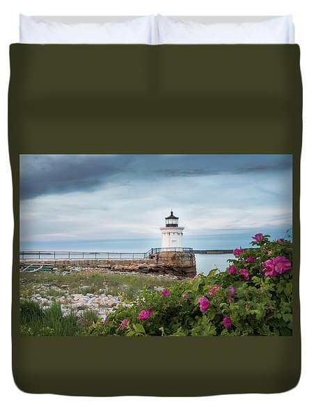 Bug Light Blooms Duvet Cover