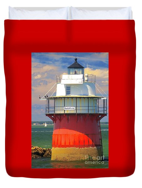 Bug Light Plymouth Duvet Cover by Amazing Jules