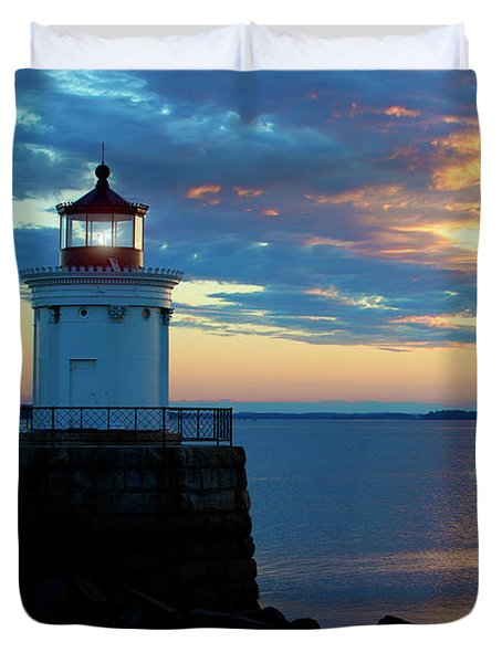 Bug Light, Portland Maine Duvet Cover