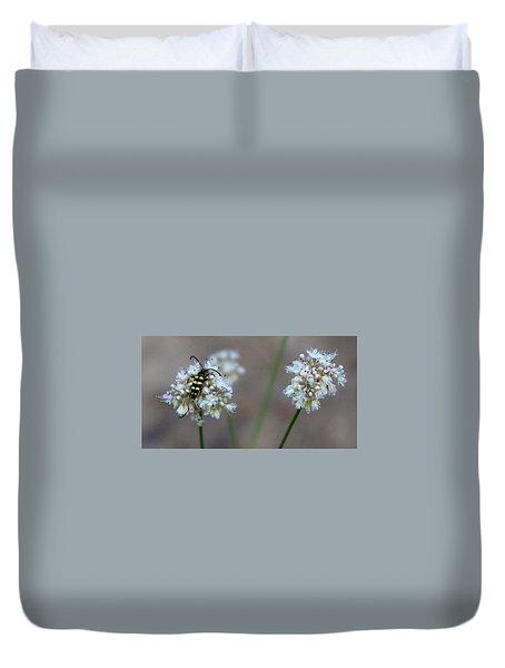 Bug On Flower Duvet Cover