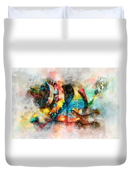 Bug Watercolor Duvet Cover