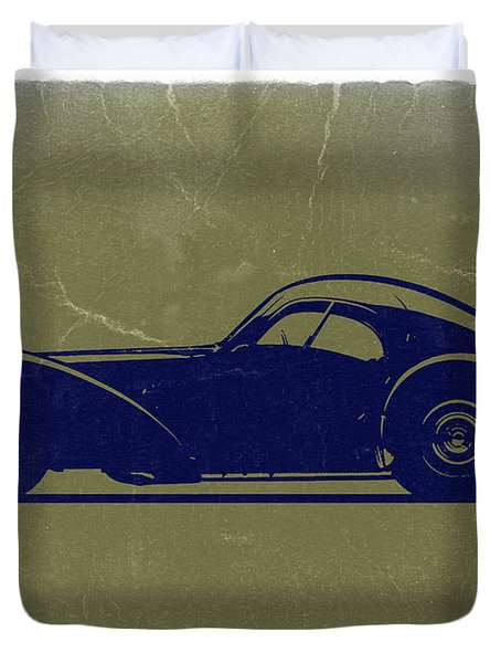Bugatti 57 S Atlantic Duvet Cover by Naxart Studio