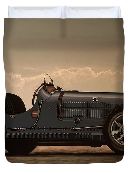 Bugatti Type 35 1924 Mixed Media Duvet Cover