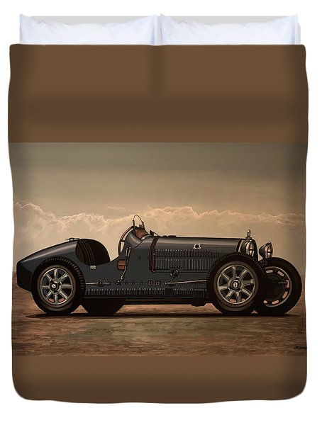 Bugatti Type 35 1924 Mixed Media Duvet Cover
