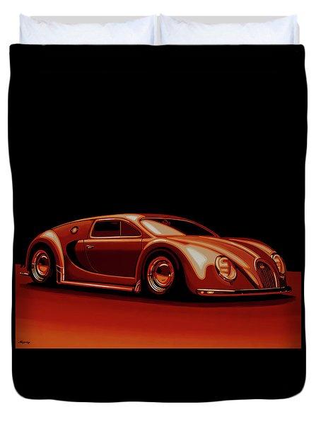 Bugatti Veyron 'beetgatti' 1945 Painting Duvet Cover