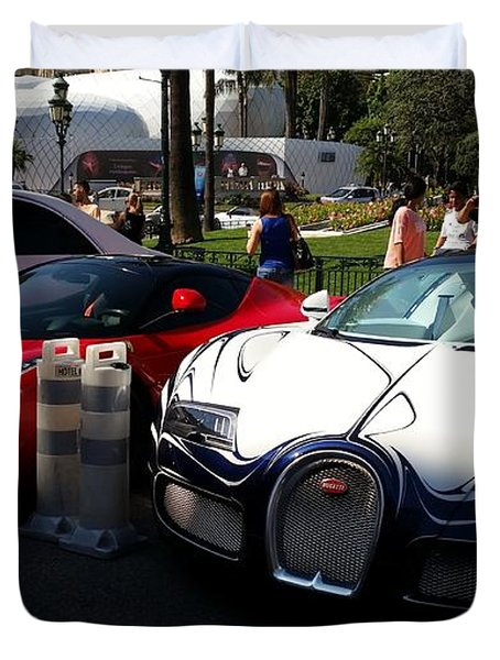 Bugatti Veyron And Ferrari 'la Ferrari' Duvet Cover