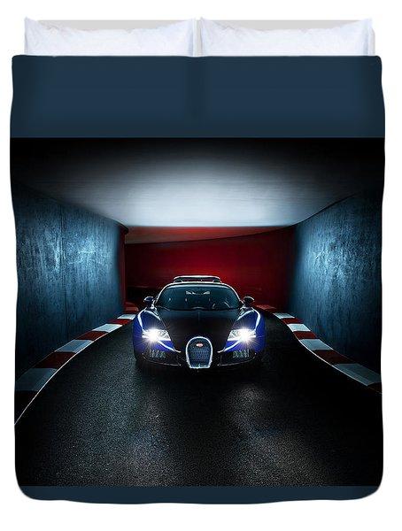 Bugatti Veyron In Secret Tunnel Duvet Cover