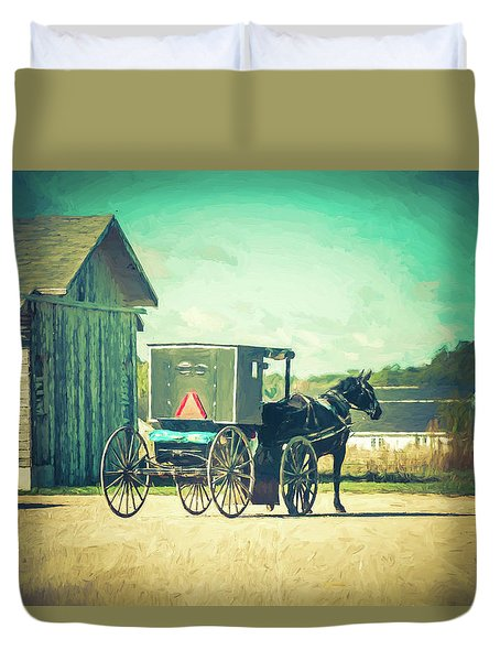 Duvet Cover featuring the photograph Buggy Ride by Joel Witmeyer