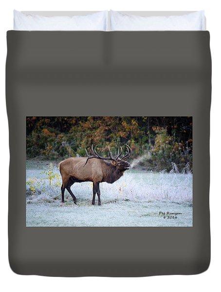 Bugle Of The Elk Duvet Cover