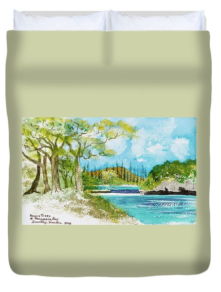 Bugny Trees At Kanumera Bay, Ile Des Pins Duvet Cover