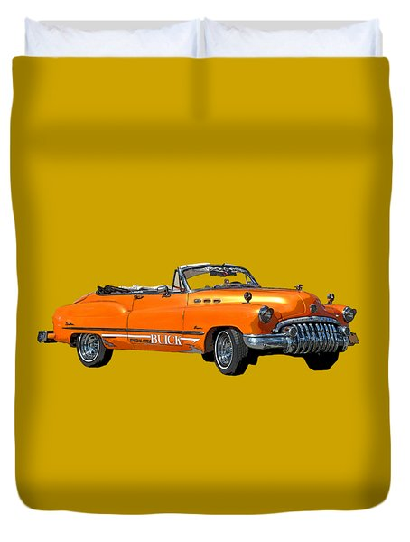 Buick Art In Orange Duvet Cover