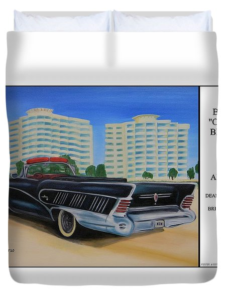 Buick On The Beach Duvet Cover
