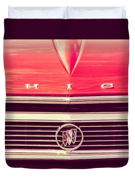 Duvet Cover featuring the photograph Buick Retro by Caitlyn Grasso