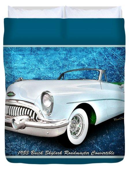 Buick Skylark Roadmaster Convertible For 1953 Duvet Cover