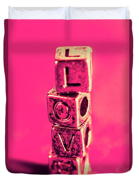 Building Blocks Of Love Duvet Cover