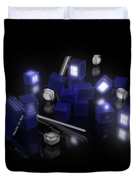 Building Blocks Of Space Time Travel Duvet Cover