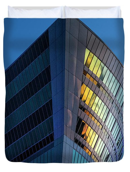 Building Floating In The Sky Duvet Cover