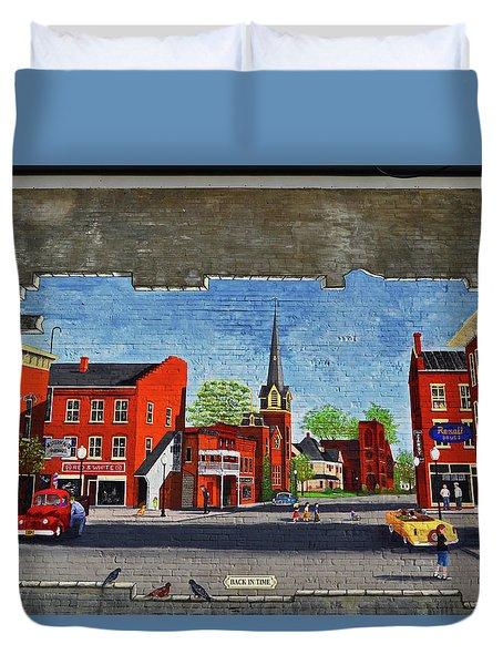 Building Mural - Cuba New York 001 Duvet Cover by George Bostian