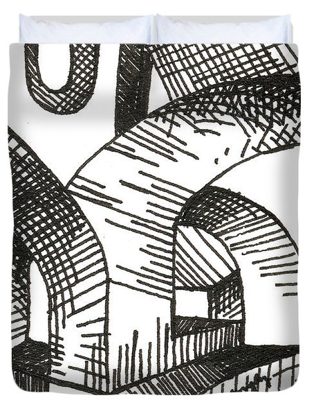 Buildings 1 2015 - Aceo Duvet Cover