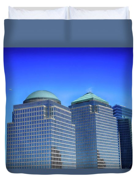 Buildings 2,3,4 In New York's Financial District Duvet Cover