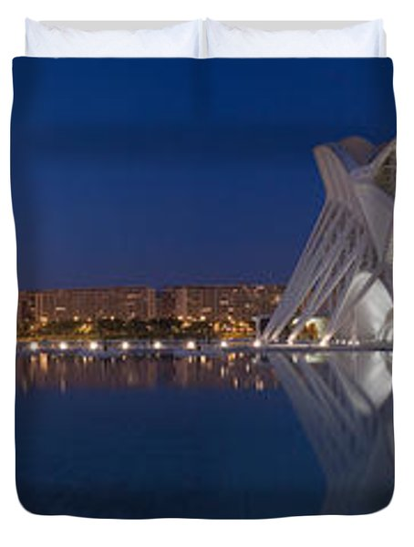 Buildings At The Waterfront, City Duvet Cover