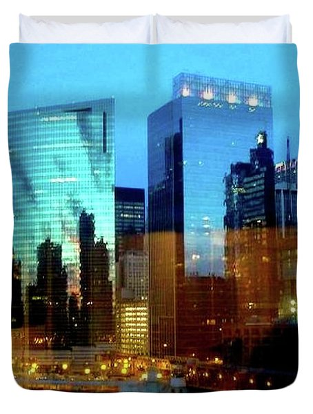 Reflections On The Canal Duvet Cover