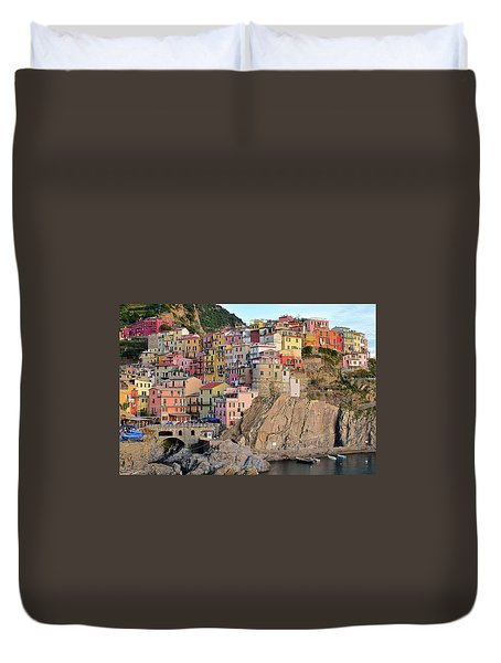 Duvet Cover featuring the photograph Built On The Slope by Frozen in Time Fine Art Photography