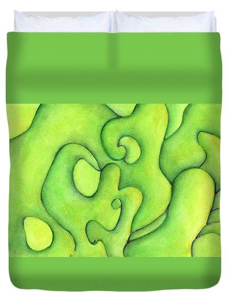 Bulbs Flowing  Duvet Cover by Versel Reid