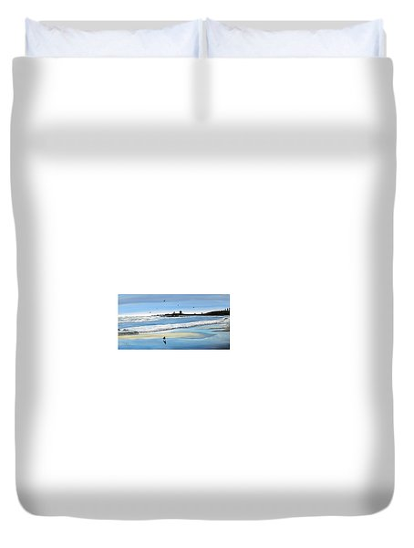 Bull Beach 2 Duvet Cover