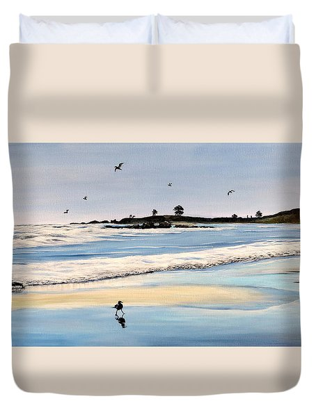 Bull Beach Duvet Cover