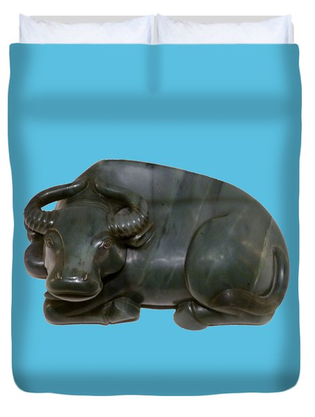 Bull Figure Duvet Cover