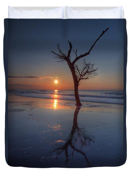 Bull Island Sunrise Duvet Cover