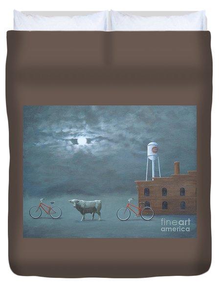 Bull Moon Ride Duvet Cover