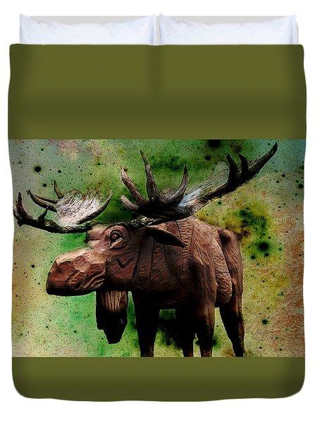Bull Moose Duvet Cover by Robin Regan