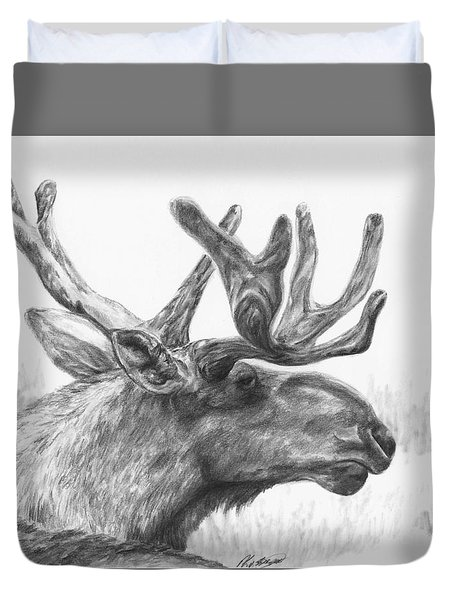 Bull Moose Study Duvet Cover