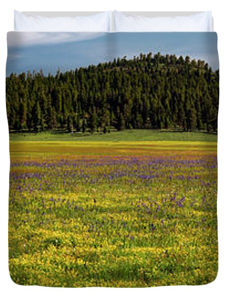 Duvet Cover featuring the photograph Bull Prairie by Leland D Howard