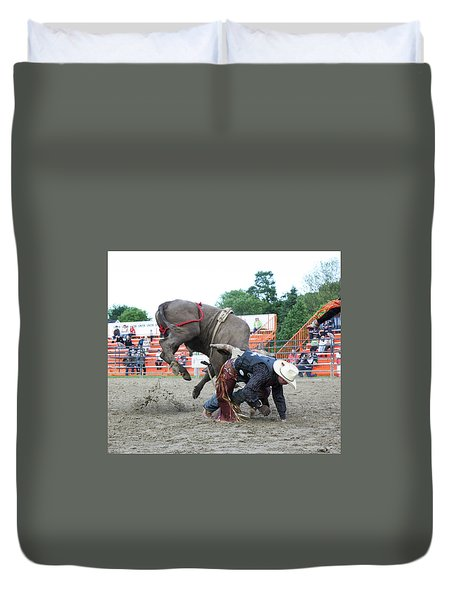 Bull Riding Action Duvet Cover