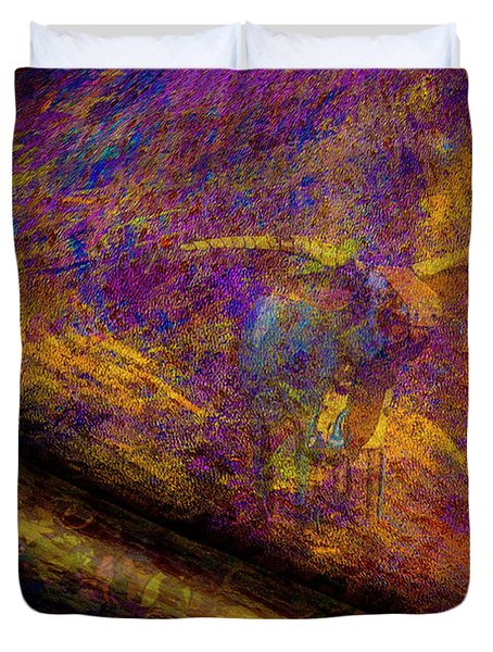 Duvet Cover featuring the photograph Bull Rust by Paul Wear