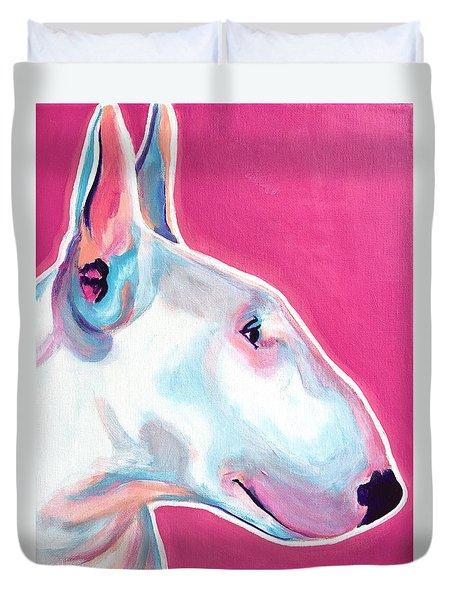 Bull Terrier - Bubblegum Duvet Cover