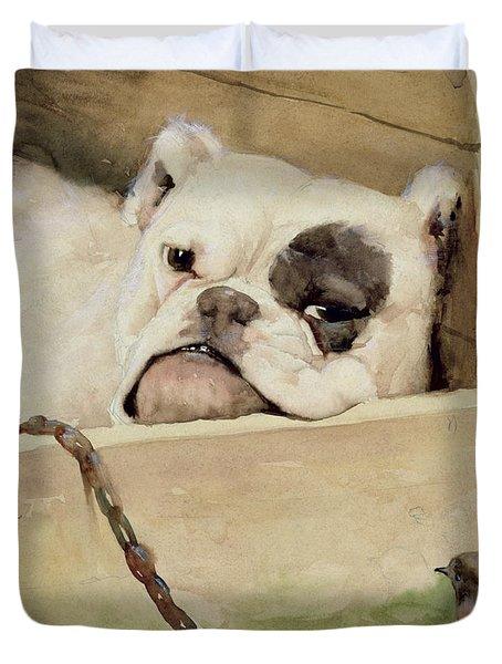 Bulldog Duvet Cover by Cecil Charles Windsor Aldin