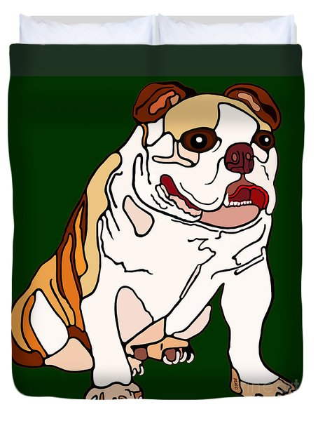Bulldog Duvet Cover