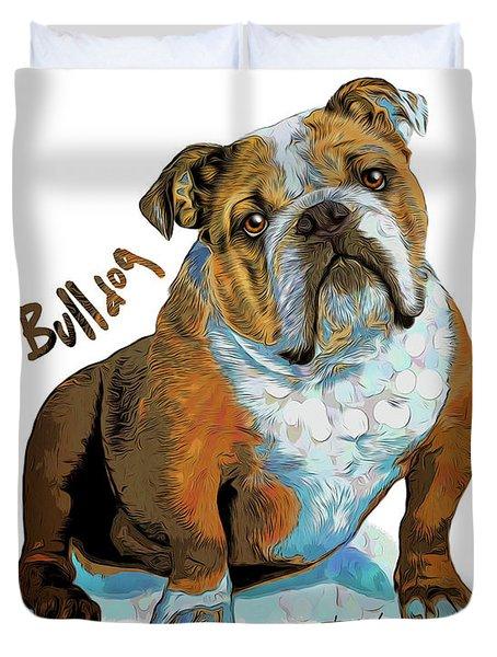 Bulldog Pop Art Duvet Cover