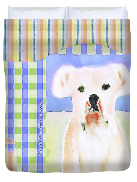 Bulldog Rana Art 40 Duvet Cover