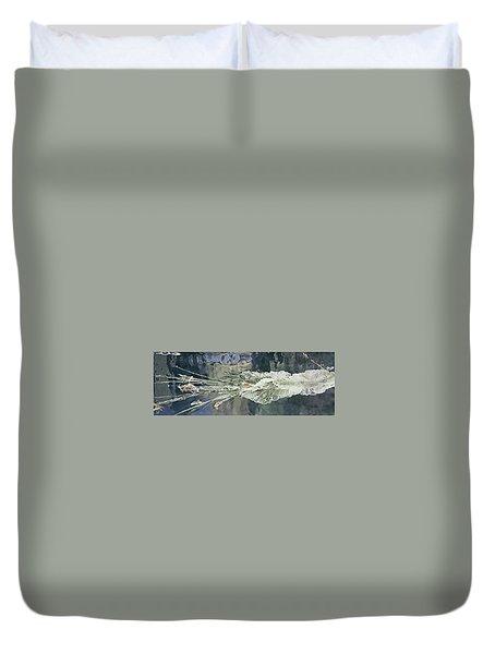 Bullet Fragmentation Abstract Duvet Cover by Kristin Elmquist