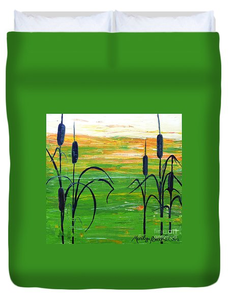 Bullrushes Duvet Cover
