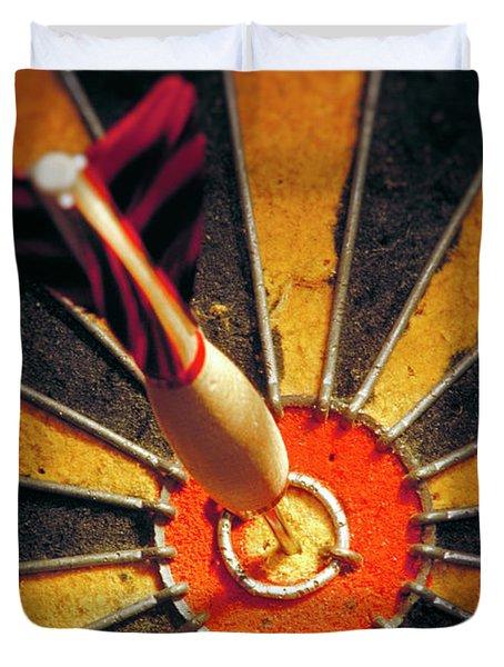 Bulls Eye Duvet Cover by John Greim
